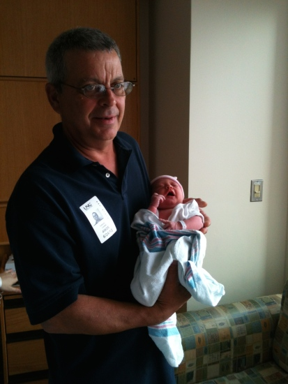 My dad (holding my niece), not George Clooney.